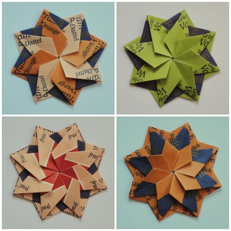 Paper, Wool and Yarn: Tea Bag Folding