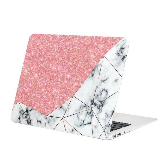 Bling Crystal Geometric Marble Pattern Rubberized Hard Case