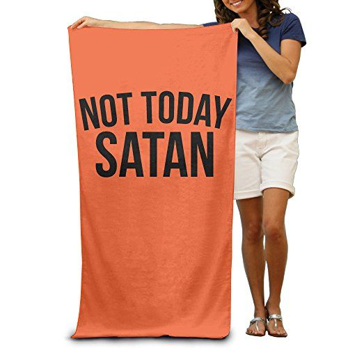 Not Today Satan Black Design Font Adult Beach Towels Funny Beach Towels Oversized Clearance  Made By Polyester.Super Absorbent.  80 Smart * 130 Smart  Machine Washable  Selected High-quality Fabrics, Good Elasticity, Moisture Easy To Dry, Soft Fit.  Delivery Time 7-15 Business Days.