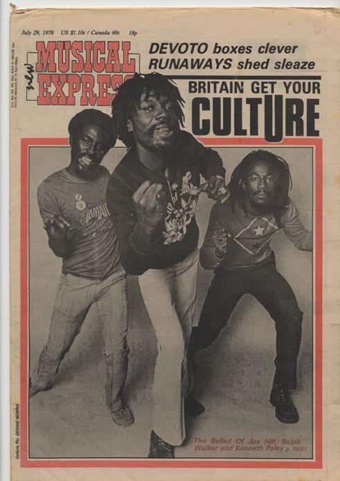 Culture, by Dennis Morris.