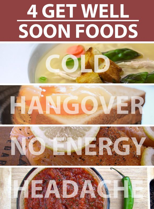 Get well soon foods - I definitely agree with eating spicy foods to help congestion and sinus issues.