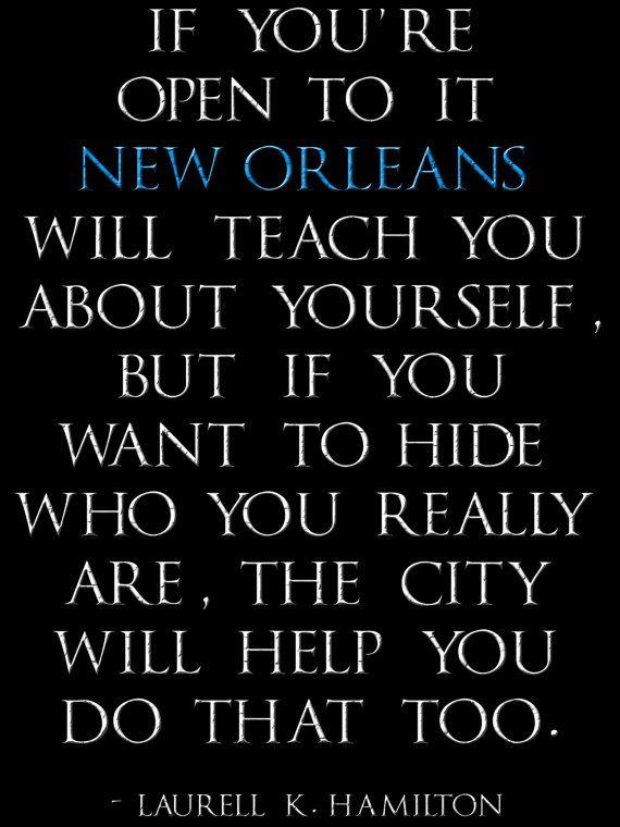 Laurell K Hamilton New Orleans quote digital art print on Etsy, $60.00