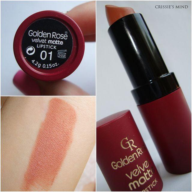 Golden Rose Velvet Matte Lipstick