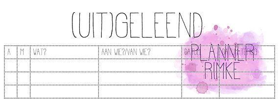 (Uit)geleend A5 - Dutch Language