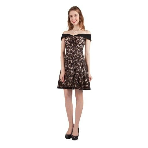 Here's a black lace dress for that cocktail party you've just been invited to.