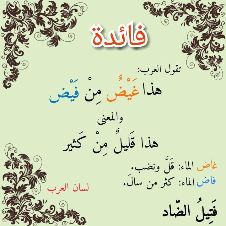Pin By بسم الله الرحمن الرحيم On حكم وأمثال Learn Arabic Language Learning Arabic Arabic Langauge