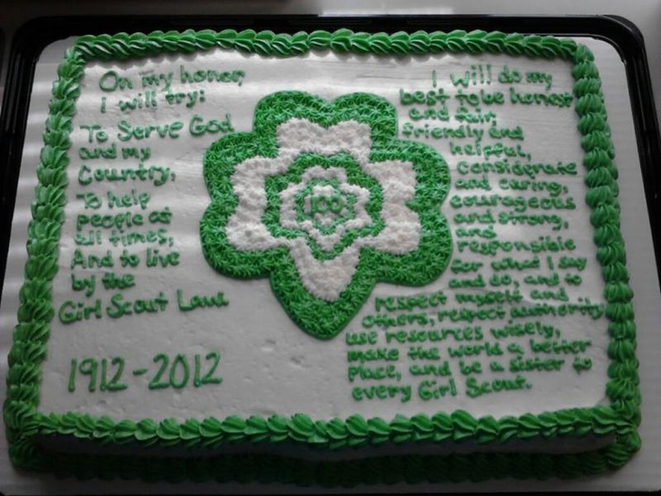 Cake Ideas For Girl Scouts : 53 best Cake Ideas for Girl Scout Bridging Party images on ...