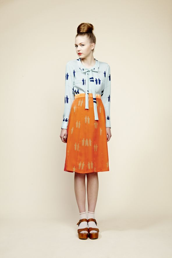 Charlotte Taylor Bold Print and Colour (Blouse and Skirt)