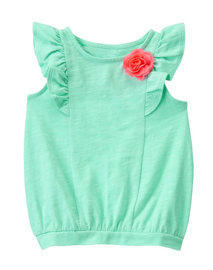 Flutter Sleeve Corsage Top at Gymboree Collection Name: Ice Cream Parlor (2015)