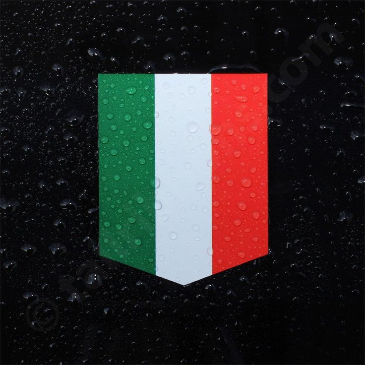 Italy flag decal sticker