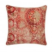 Iznik Red Cushion #andrewmartin #cushions #brightsandstripes