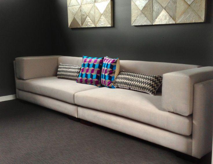 Custom sofa designed and made for a cinema room,  Harbro furniture: Harbro.com.au