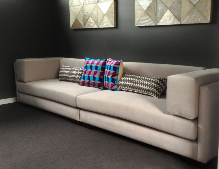 Custom sofa designed and made for a cinema room,  Harbro furniture: Harbro.com.au