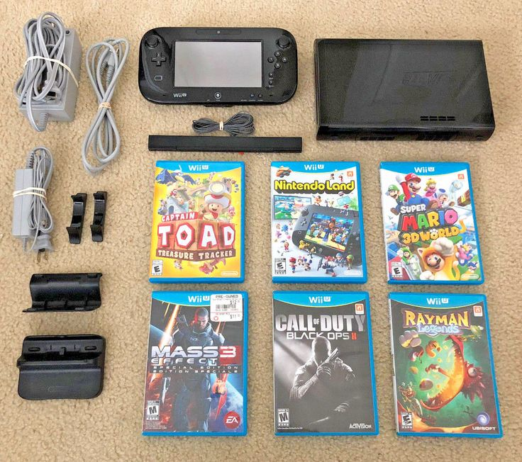 Nintendo Wii U Console Super Mario 3D Deluxe Bundle + (6) Games ~ Free Shipping: $224.95 End Date: Monday Mar-19-2018 9:02:01 PDT Buy It…