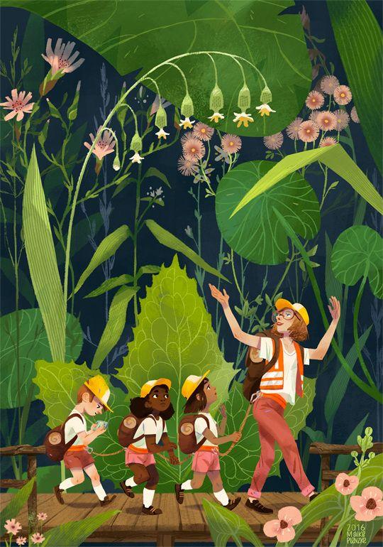 Maike Plenzke's website for her Illustration work. Editorial, Portraits, Fashion and children's book illustrations.