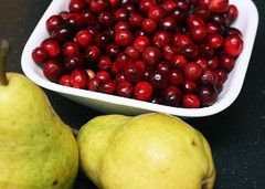Cranberry-Pear White Balsamic has a clean, crisp and  tart taste and boasts a lovely deep rose blush color. Try pairing this balsamic with a soft unflavored evoo for an amazingly fruity combination that is perfect for dipping or for a salad dressing.  Check our website for a delicious recipe - Cranberry Pear Gelee with Fruit!