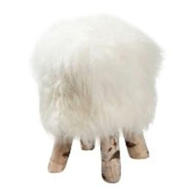 <p>IJslands witte Dyreskinn® kruk, bekend om zijn volle en natuurlijke wollige look, brengt een hele nieuwe look in het huis of op jouw kantoor. De poef is gemaakt van echte schapenvacht, het schaap is geboren en opgegroeid op de groene velden van West-Europa. Geschatte maat is ø60cm en ca. 50cm hoog. Net als alle Dyreskinn®-producten is deze mooie kruk gemaakt van een vacht verkregen uit de vleesproductie. De vacht is hier een restproduct, de dieren worden hier niet voor gedood. Wij we...