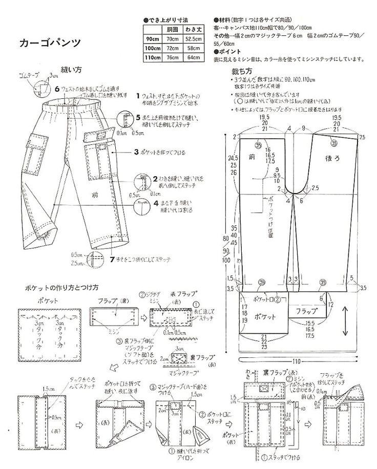 You Rakuten mom support! Pyrrol of Handicraft: How to make (HS)> How to make the recipe 3> children cargo pants how to make recipes> Basic basic