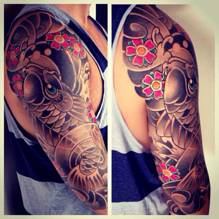 My japanese tattoo sleeve tattoo ink inked up dudes for Japanese sleeve tattoos meanings