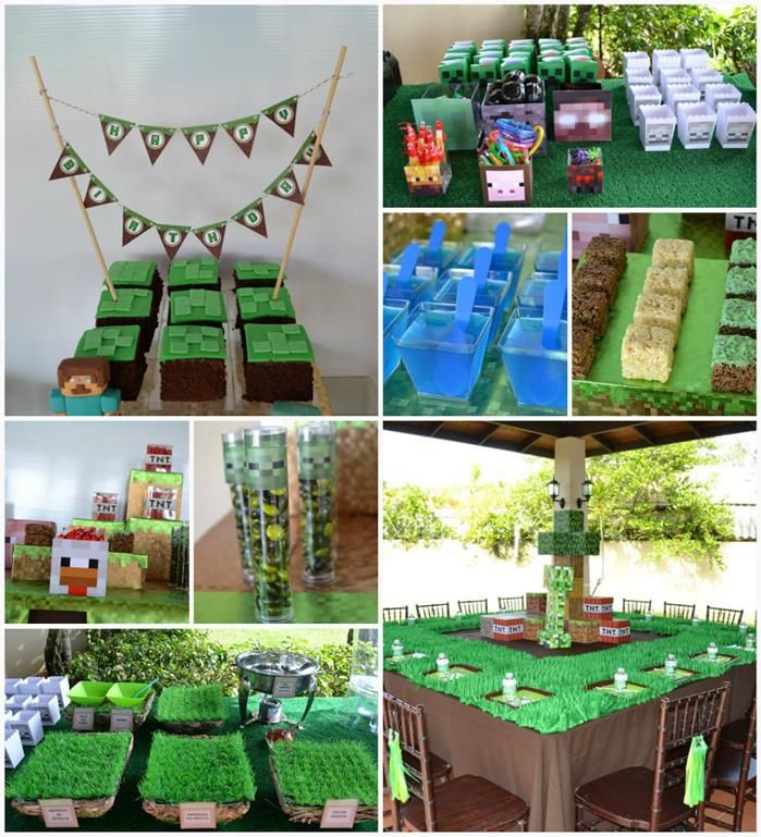 Minecraft Themed Birthday Full of AWESOME IDEAS Party via Kara's Party Ideas Kara'sPartyIdeas.com #Gamer #Gaming #PartyIdeas #Supplies #Minecraft