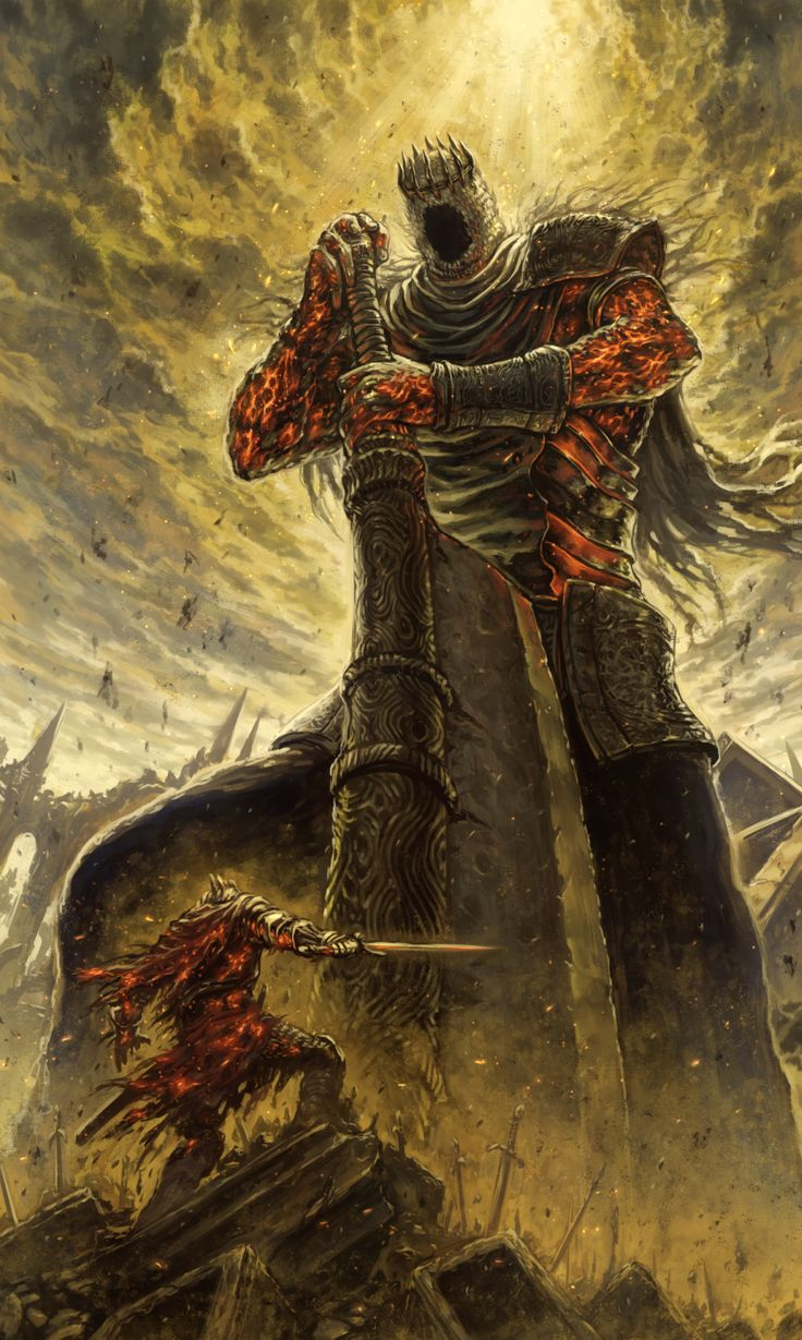 Yhorm the giant, the last giant in ds 2 apparently wasn't the last one. (I'm not very well known with the dark souls lore