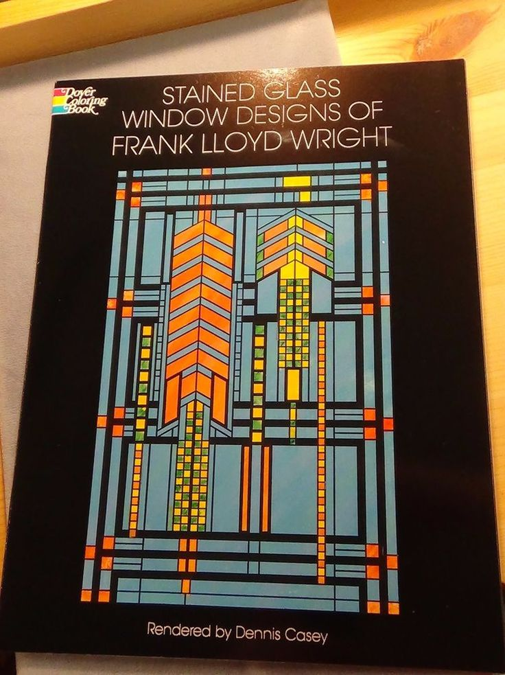 Frank Lloyd Wright Window Designs Stained Glass Pattern