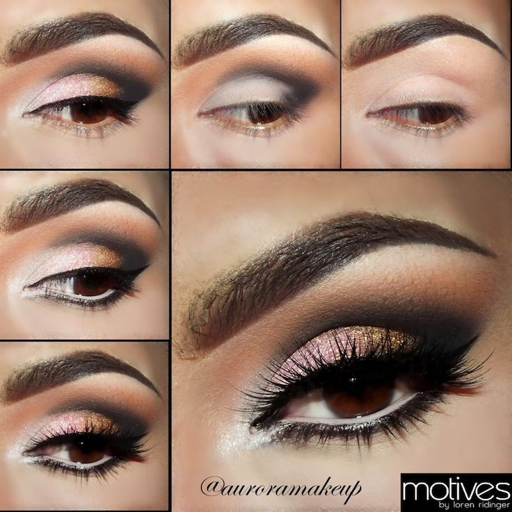 Pink & Gold Smoky Eye Makeup Pictorial with Motives Cosmetics