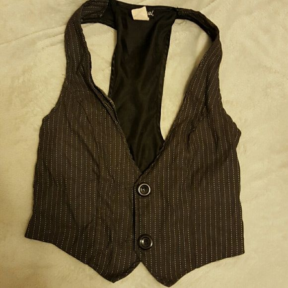 Pin Striped Fashion Vest Wet Seal pin stripe vest. Really cute, worn but in good condition. Wet Seal Accessories