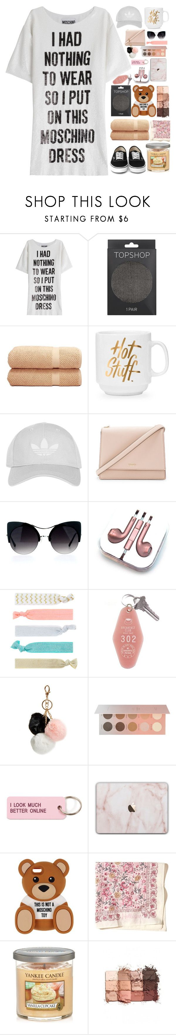 """I don't play by the rules of the game//"" by alyssajspolyvore ❤ liked on Polyvore featuring Moschino, Topshop, Linum Home Textiles, Kate Spade, PhunkeeTree, Accessorize, GUESS, ZOEVA, Various Projects and Hollister Co."