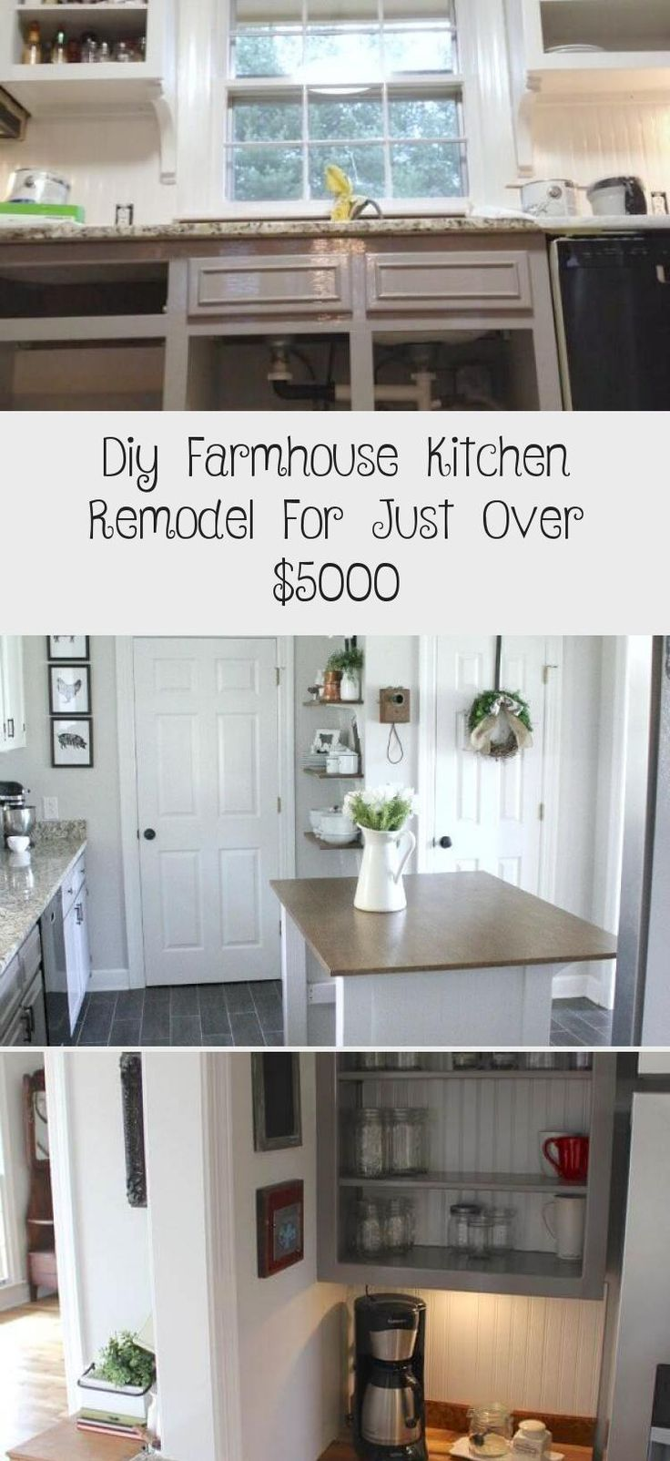 diy farmhouse kitchen remodel for just over 5000 kitchen decor in 2020 farmhouse kitchen on kitchen remodel under 5000 id=38488