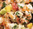 Shrimp With Avocado-Mango Salsa: Recipes: Self.com : In addition to being a great source of good-for-you fat, avocados are full of fiber and bloat-busting potassium. #SELFmagazine