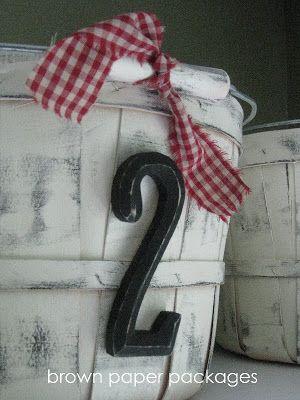 {painted apple baskets} - Simply Kierste