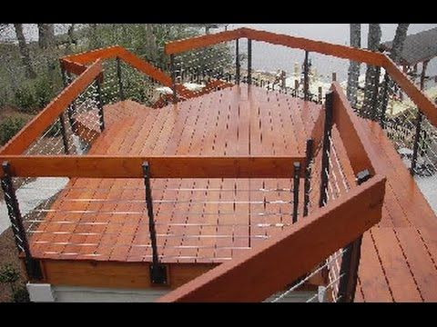 Wire Deck Railing # Aluminum Wire Deck Railing~Wood And Wire Deck Railing