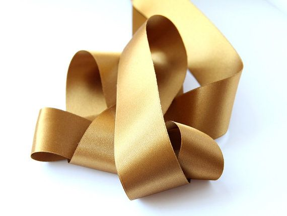 Gold Satin Ribbon Belt Wedding Belt  Bridesmaid by gemsgallery