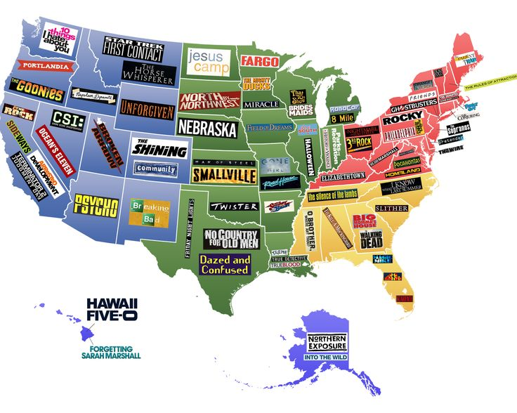 This Map Shows Famous Movies Tv Shows Set In Each U S State