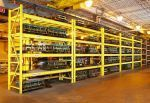 Steel King Pallet Rack for sale! All pallet rack configurations available, including Selective, Flow, Pushback, Double Deep Selective, Boat Rack, Seismic Rack, Drive-in, Drive-thru, Mobile, Mezzanine Rack, Rack-Supported Buildings! Custom configurations also available. #steelking #materialhandling #palletrack