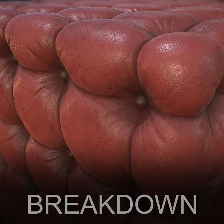 Chesterfield Sofa Leather - Breakdown , Mohamed Gamal on ArtStation at https://www.artstation.com/artwork/ROaZe