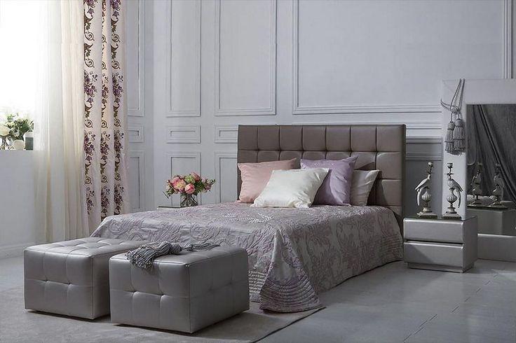 Шоколадная спальня! Представлена кровать Алабама, тумбы Севилья-2, пуфы Льеж. Коллекция Dream Land