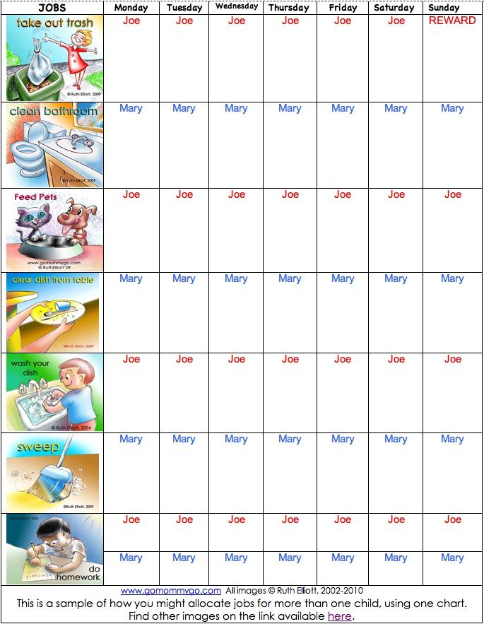 Best Chore Charts Images On   Chore Charts Kid