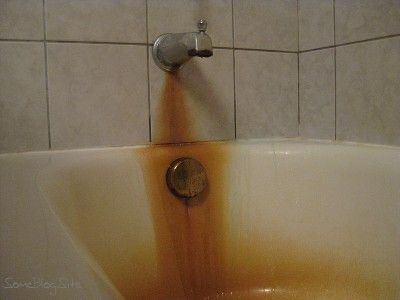 Rust Stains in Bathtub.  OMG it WORKS!!!  Tried and true!!
