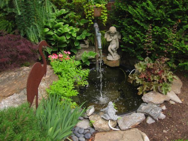 Water garden ~ My Garden: Color in Massachusetts: Backyard Ideas, Water Fountain, Backyard Ponds, Water Features, Color, Backyard Dreamin, Backyard Fountains, Backyard Wishes, Water Garden