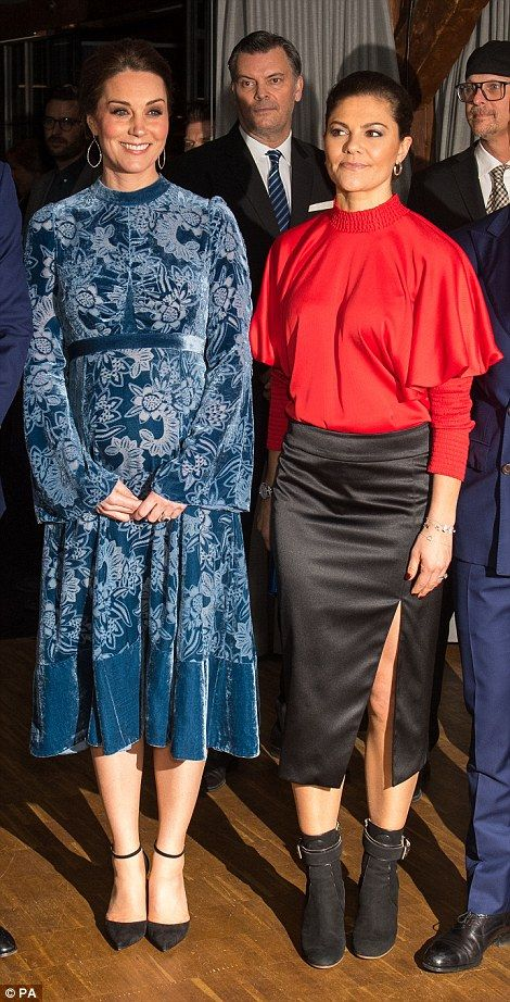 The Duchess and Crown Princess Victoria both went for very different looks for the occasion