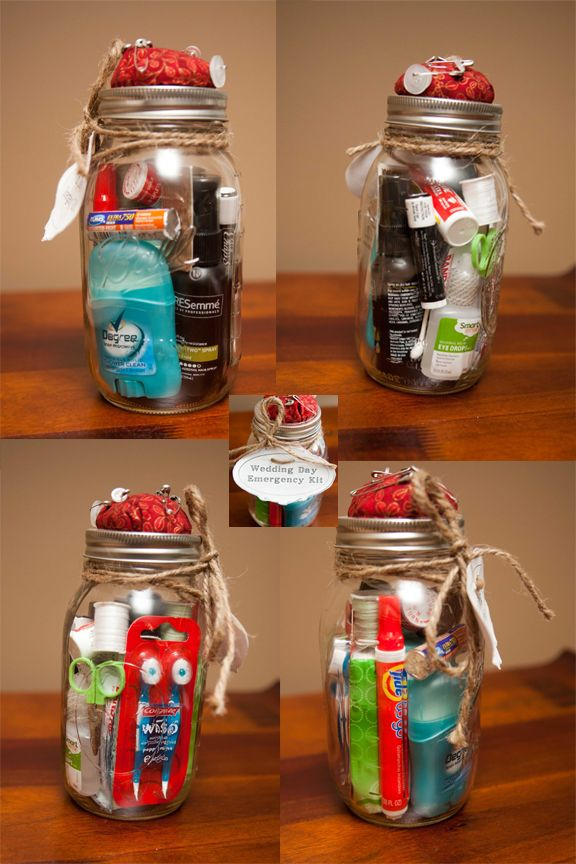 Mason Jar Survival Kit (perfect for bride or new college student)