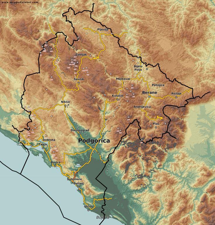 High resolution map of #Montenegro #Oblun  (1671×1750)