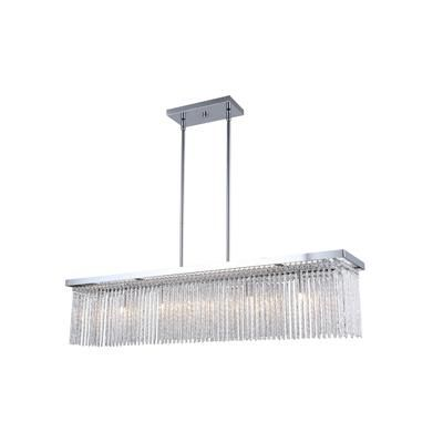 Canarm Ltd. | ARLO 5 Light Chrome with Aluminum and Crystal Chandelier | Home Depot Canada