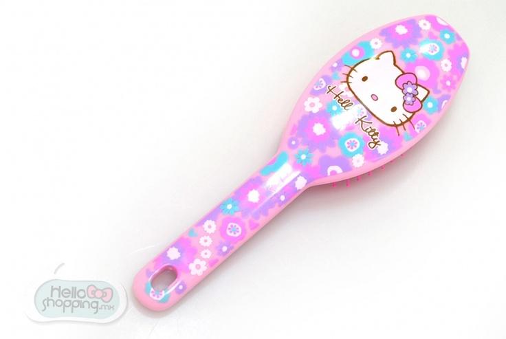 Hello Kitty Cepillo: Flores  $250.00  Mediddas: 22cm x 7cm