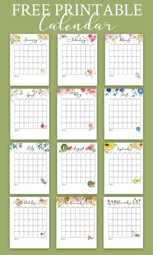 Free Printable Calendar 2019 Monthly Calendar Free Printable