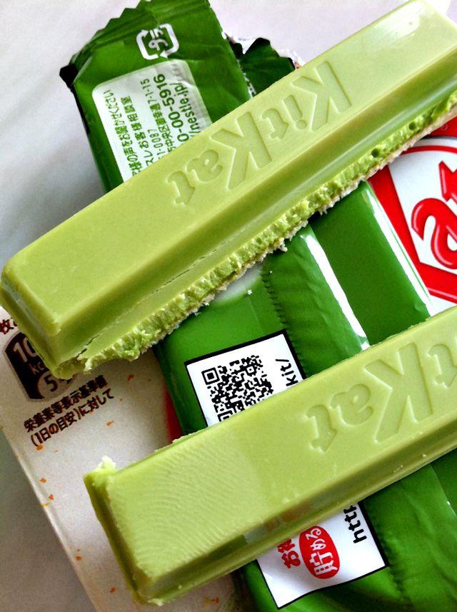 Delicious, scrumptious green tea kit kat