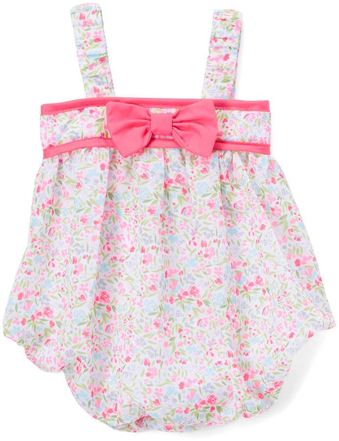 72514dadd4b Baby Essentials Pink Floral Bow Bubble Romper - Infant  babygirl ...
