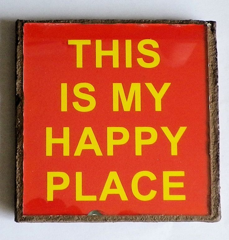 Text this is my happy place FFHKG by LachanceGlassMosaic on Etsy